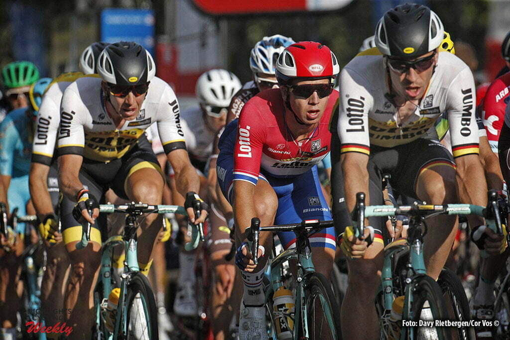 Paris - France - wielrennen - cycling - radsport - cyclisme - Robert Wagner (Germany / Team LottoNL - Jumbo) - Dylan Groenewegen (Netherlands / Team LottoNL - Jumbo) - Sep Vanmarcke (Belgium / Team LottoNL - Jumbo) pictured during stage 21 of the 2016 Tour de France from Chantilly to Paris, 113.00 km - photo Dion Kerckhoffs//Davy Rietbergen/Cor Vos © 2016