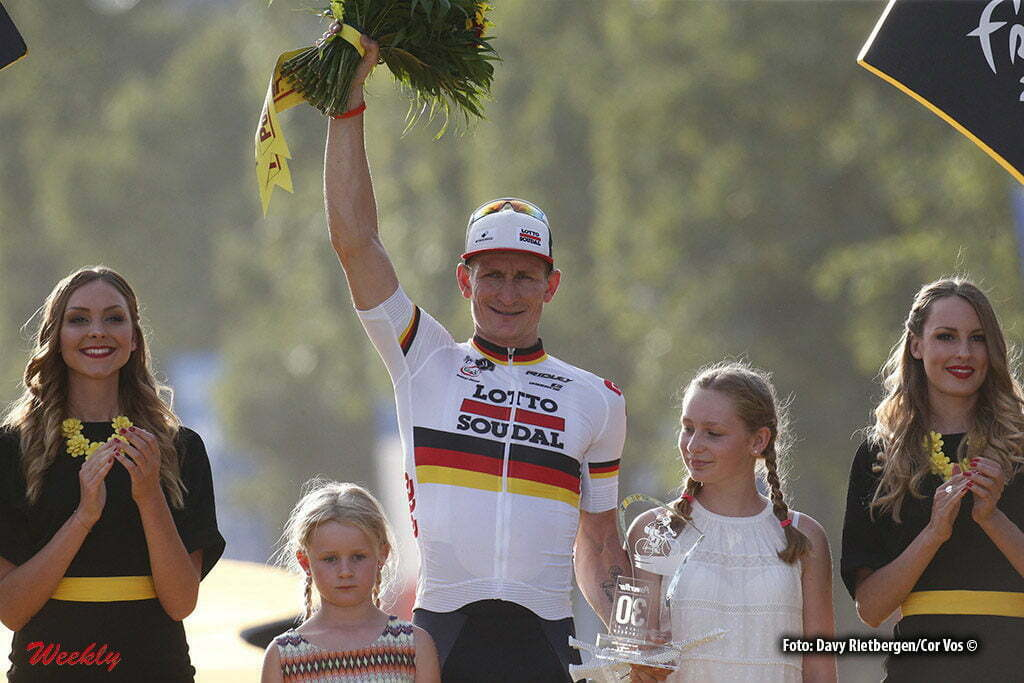 Paris - France - wielrennen - cycling - radsport - cyclisme - Andre Greipel (GER-Lotto-Soudal) and daughters pictured during stage 21 of the 2016 Tour de France from Chantilly to Paris, 113.00 km - photo Dion Kerckhoffs//Davy Rietbergen/Cor Vos © 2016