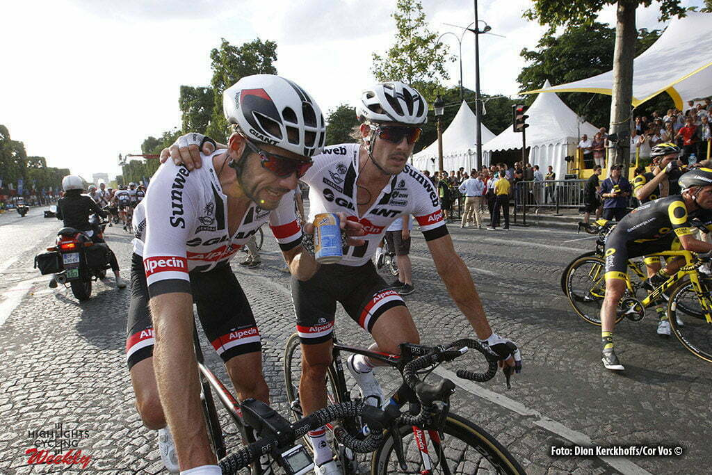 Paris - France - wielrennen - cycling - radsport - cyclisme - Roy Curvers (NED-Giant-Alpecin) - John Degenkolb (GER-Giant-Alpecin) pictured during stage 21 of the 2016 Tour de France from Chantilly to Paris, 113.00 km - photo Davy Rietbergen//Dion Kerkhoffs/Cor Vos © 2016