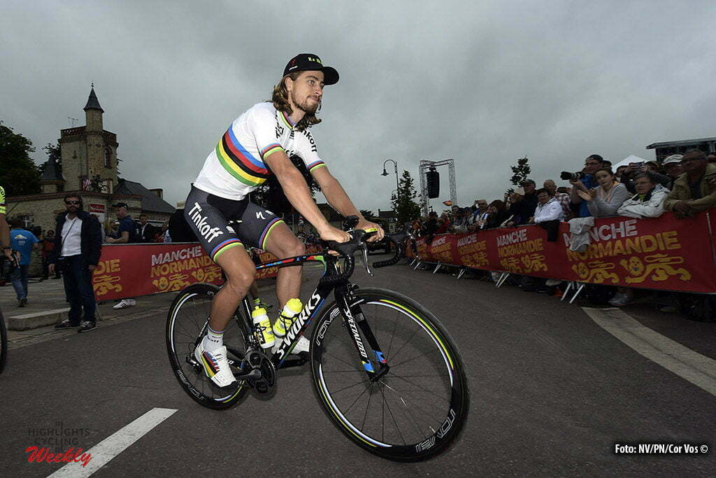 Saint-Mere-Eglise - France - wielrennen - cycling - radsport - cyclisme - Peter Sagan (Slowakia / Team Tinkoff - Tinkov) pictured during the official team presentation prior the 2016 Tour de France, on June 30, 2016 in Saint-Mere-Eglise - France - photo NV/PN/Cor Vos © 2016