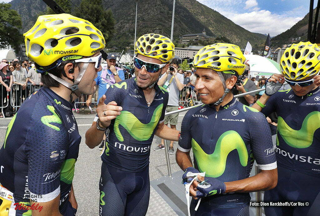 Revel - France - wielrennen - cycling - radsport - cyclisme - Jon Izaguirre Insausti (SPA-Movistar) - Alejandro Valverde (SPA-Movistar) - Nairo Quintana (COL-Movistar) pictured during stage 10 of the 2016 Tour de France from Escaldes-Engordany to Revel, 198.00 km- photo Dion Kerckhoffs/Tim van Wichelen/Cor Vos © 2016
