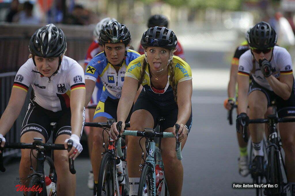 Greiz - Germany - wielrennen - cycling - radsport - cyclisme - Olsson Sara (Sweden / INPA Bianchi) pictured during stage 5 of the Thuringen - Rundfahrt for women Rund um Greiz - photo Anton Vos/Cor Vos © 2016