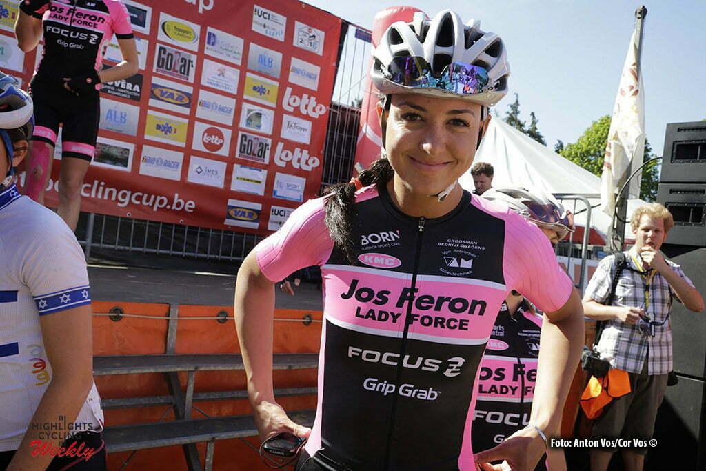 Houthalen - Helchteren - Belgium - wielrennen - cycling - radsport - cyclisme - Anneloes Stoelwinder - Jos Feron pictured during Trofee Maarten Wijnants in Houthalen Helchteren - photo Anton Vos/Cor Vos © 2016