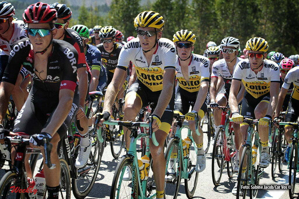 San Andres de Teixido - Spain - wielrennen - cycling - radsport - cyclisme - Robert Gesink (Netherlands / Team LottoNL - Jumbo) - Steven Kruijswijk (Netherlands / Team LottoNL - Jumbo) - Jos Van Emden (Netherlands / Team LottoNL - Jumbo) pictured during stage 4 from Betanzos to San Andres de Teixido - Vuelta Espana 2016 - photo Sabine Jacob/Cor Vos © 2016