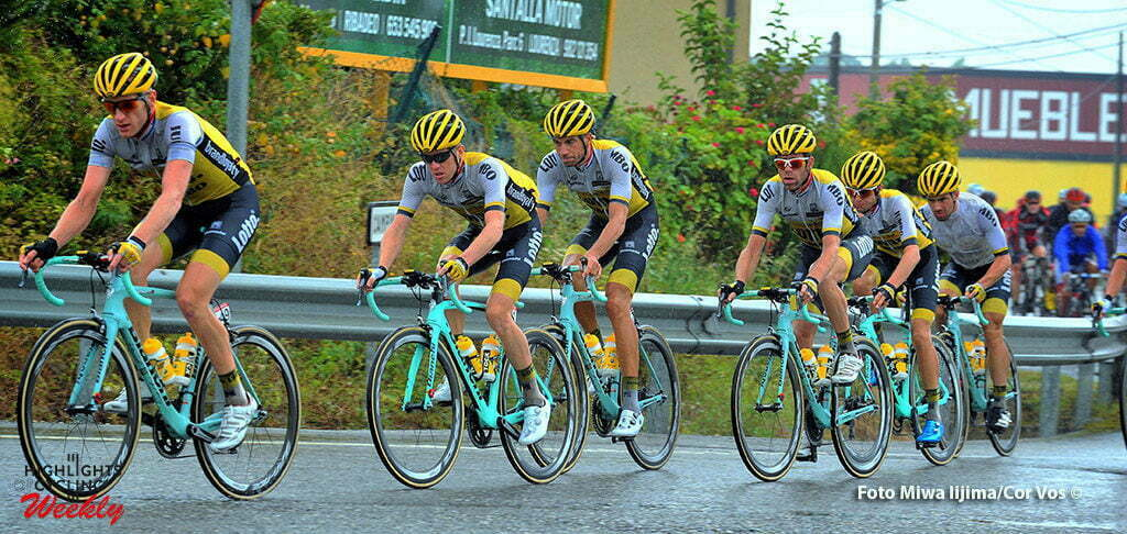 Lugo - Spain - wielrennen - cycling - radsport - cyclisme - Jos Van Emden (Netherlands / Team LottoNL - Jumbo) - Steven Kruijswijk (Netherlands / Team LottoNL - Jumbo) - Martijn Keizer (Netherlands / Team LottoNL - Jumbo) - Bram Tankink (Netherlands / Team LottoNL - Jumbo) pictured during stage 5 from Viveiro to Lugo - Vuelta Espana 2016 - photo Miwa iijima/Cor Vos © 2016