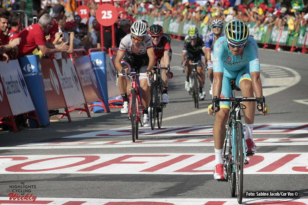 Luintra. Ribera Sacra - Spain - wielrennen - cycling - radsport - cyclisme - Luis Leon Sanchez Gil (Spain / Team Astana) pictured during stage 6 from Monforte de Lemos to Luintra. Ribera Sacra - Vuelta Espana 2016 - photo Sabine Jacob/Cor Vos © 2016