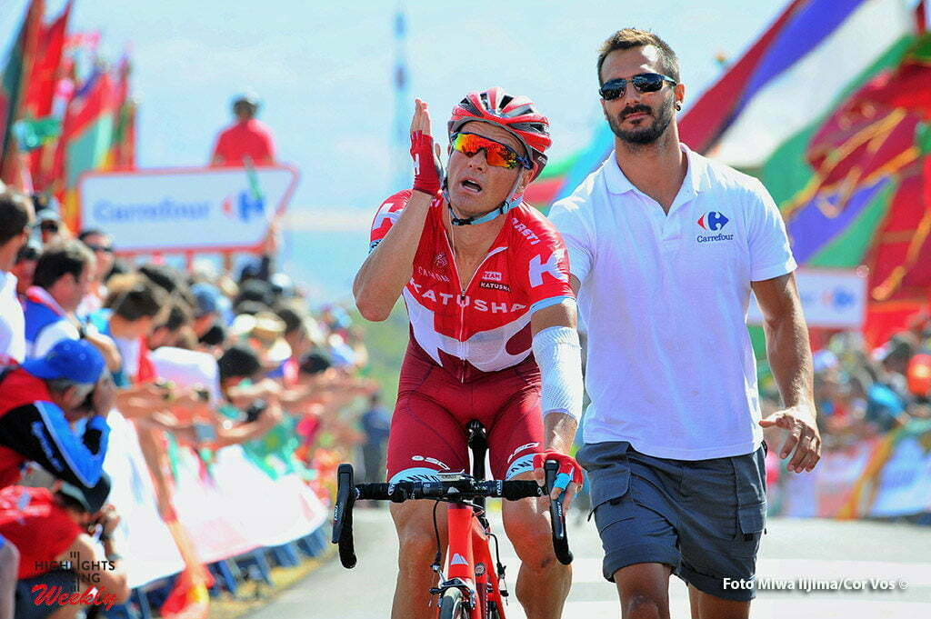La Camperona. Valle de Sabero - Spain - wielrennen - cycling - radsport - cyclisme - Lagutin Sergey (Russia / Team Katusha) pictured during stage 8 from Villalpando to La Camperona. Valle de Sabero - Vuelta Espana 2016 - photo Miwa iijima/Cor Vos © 2016