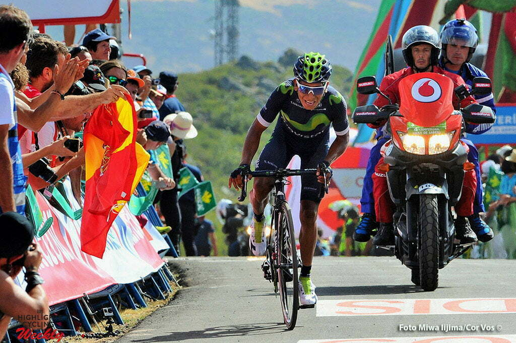 La Camperona. Valle de Sabero - Spain - wielrennen - cycling - radsport - cyclisme - Nairo Alexander Quintana Rojas (Columbia / Team Movistar) pictured during stage 8 from Villalpando to La Camperona. Valle de Sabero - Vuelta Espana 2016 - photo Miwa iijima/Cor Vos © 2016
