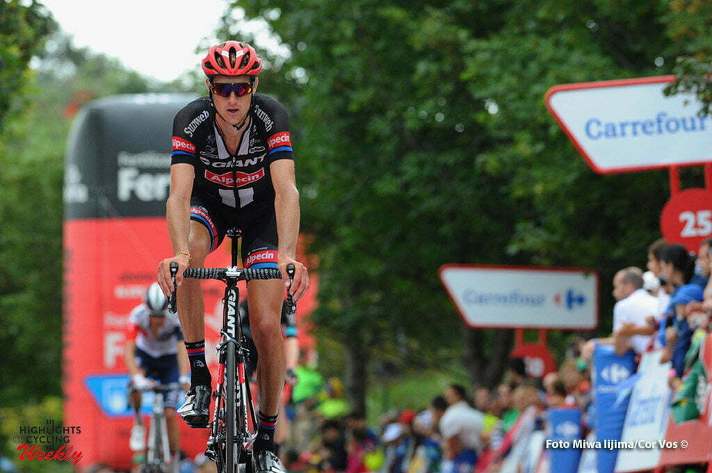 Oviedo. Alto del Naranco - Spain - wielrennen - cycling - radsport - cyclisme - Tobias Ludvigsson (Schweden / Team Giant - Alpecin) pictured during stage 9 from Cistierna - Oviedo. Alto del Naranco - Vuelta Espana 2016 - photo Miwa iijima/Cor Vos © 2016