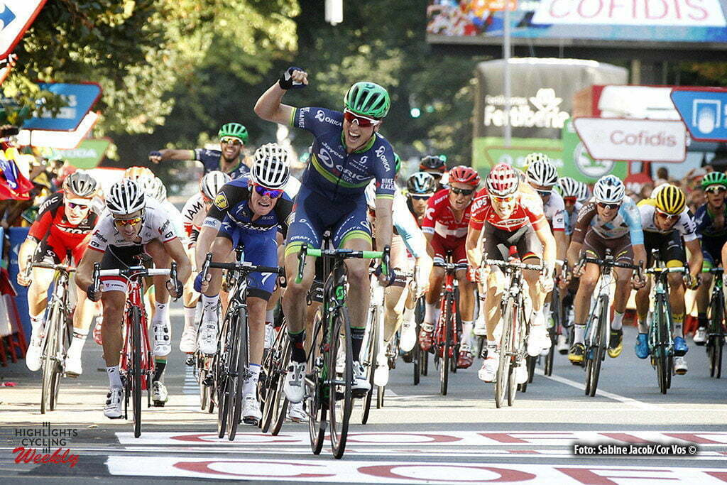 Bilbao - Spain - wielrennen - cycling - radsport - cyclisme - Jens Keukeleire (Belgien / Team Orica Bike Exchange) - Bouet Maxime (France / Team Etixx - Quick Step) - Felline Fabio (Italie / Trek Factory Racing) pictured during stage 12 from Los Corrales de Buelna to Bilbao - Vuelta Espana 2016 - photo Sabine Jacob/Cor Vos © 2016