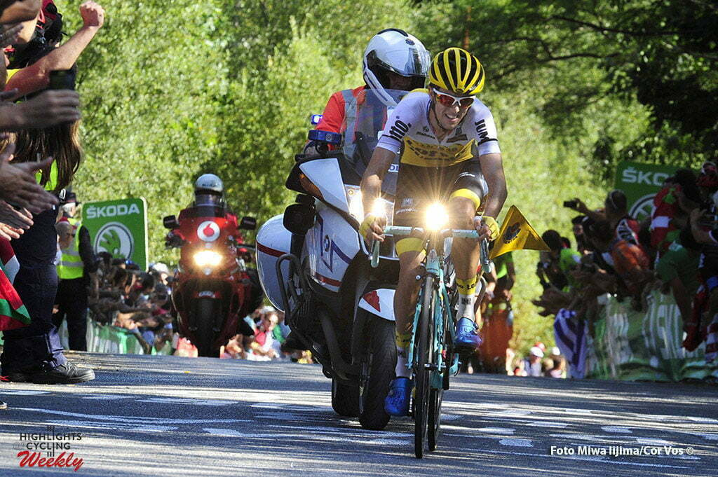 Bilbao - Spain - wielrennen - cycling - radsport - cyclisme - George Bennett (N. Seeland / Team LottoNL - Jumbo) pictured during stage 12 from Los Corrales de Buelna to Bilbao - Vuelta Espana 2016 - photo Miwa iijima/Cor Vos © 2016