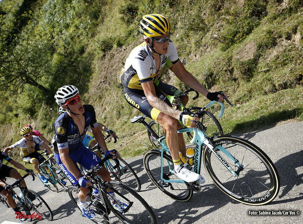 Aubisque - Gourette - Spain - wielrennen - cycling - radsport - cyclisme - Robert Gesink (Netherlands / Team LottoNL - Jumbo) pictured during stage 14 from Urdax-Dantxarinea to Aubisque - Gourette - Vuelta Espana 2016 - photo Sabine Jacob/Cor Vos © 2016
