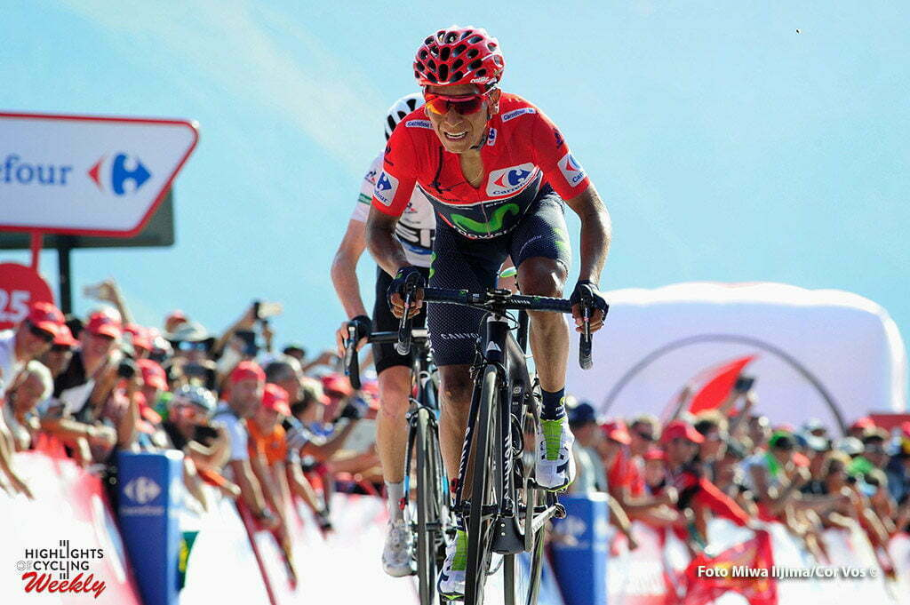 Aubisque - Gourette - Spain - wielrennen - cycling - radsport - cyclisme - Nairo Alexander Quintana Rojas (Columbia / Team Movistar) pictured during stage 14 from Urdax-Dantxarinea to Aubisque - Gourette - Vuelta Espana 2016 - photo Miwa iijima/Cor Vos © 2016