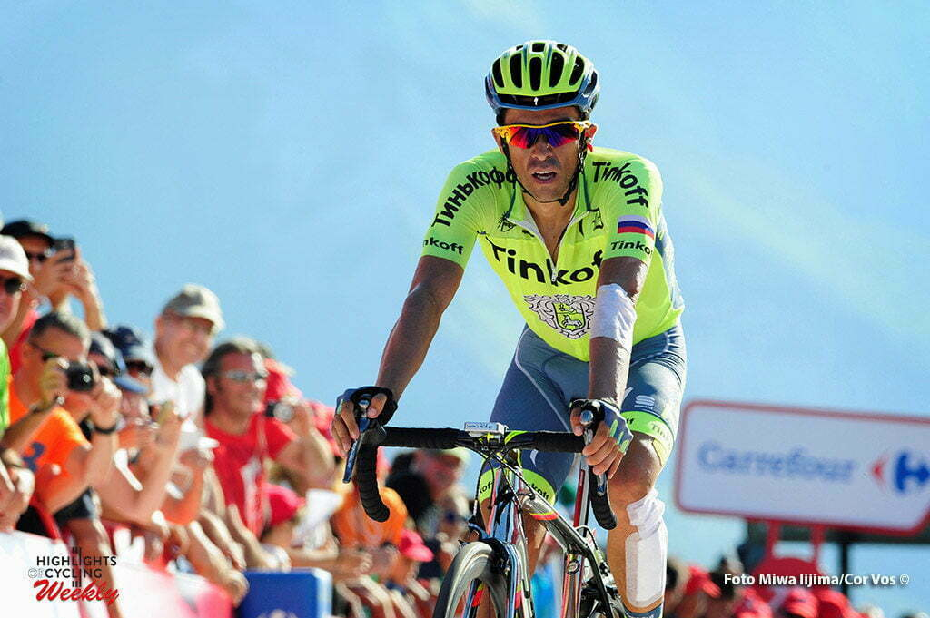 Aubisque - Gourette - Spain - wielrennen - cycling - radsport - cyclisme - Contador Velasco Alberto (Spain / Team Tinkoff - Tinkov) pictured during stage 14 from Urdax-Dantxarinea to Aubisque - Gourette - Vuelta Espana 2016 - photo Miwa iijima/Cor Vos © 2016