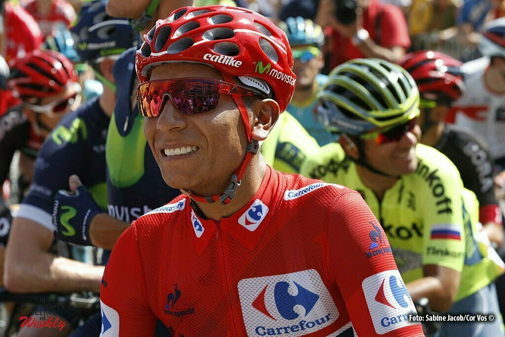 Llucena. Camins del Penyagolosa - Spain - wielrennen - cycling - radsport - cyclisme - Nairo Alexander Quintana Rojas (Columbia / Team Movistar) pictured during stage 17 from Castellon to Llucena. Camins del Penyagolosa - Vuelta Espana 2016 - photo Sabine Jacob/Cor Vos © 2016