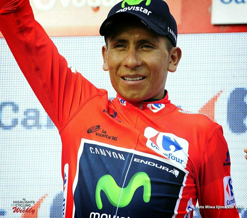 Gandía - Spain - wielrennen - cycling - radsport - cyclisme - ~Nairo Alexander Quintana Rojas (Columbia / Team Movistar) pictured during stage 18 from Requena to Gandía - Vuelta Espana 2016 - photo Miwa iijima/Cor Vos © 2016