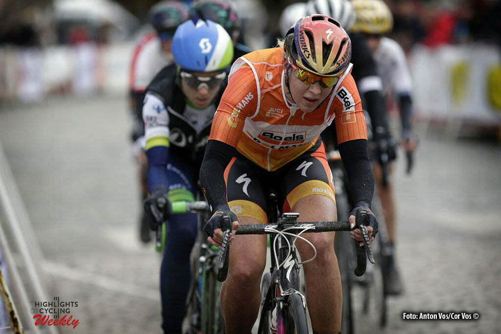 Boezinge - Belgium - wielrennen - cycling - radsport - cyclisme - Demi De Jong (Netherlands / Boels Dolmans Cycling Team) pictured during Dwars door de Westhoek in Boezinge - photo Anton Vos/Cor Vos © 2016