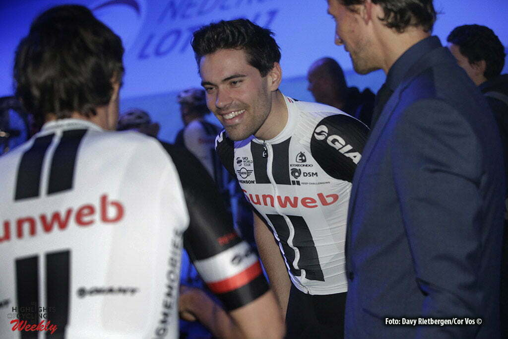 Rotterdam - Netherlands - wielrennen - cycling - cyclisme - radsport - baan - track - piste - presentation Team Sunweb - Tom Dumoulin pictured during the Zesdaagse 2017 in Ahoy - Rotterdam - foto Davy Rietbergen/Carla Vos/Cor Vos ©2017