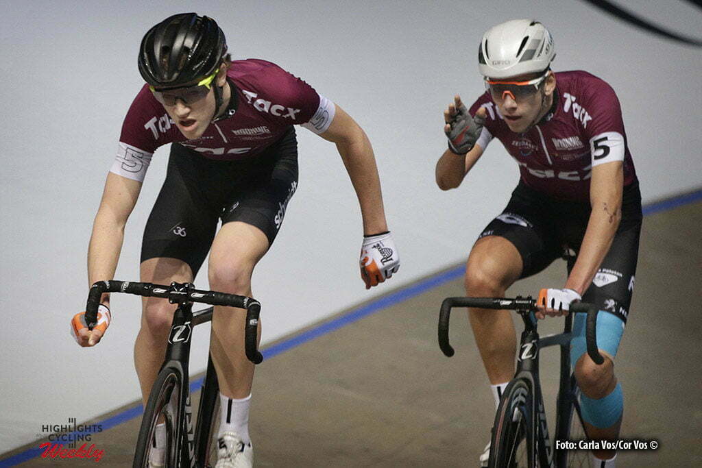 Rotterdam - Netherlands - wielrennen - cycling - cyclisme - radsport - baan - track - piste - Maikel Zijlaard - Vincent Hoppezak (r) pictured during the Tacx Talents Cup - Zesdaagse 2017 in Ahoy - Rotterdam - foto Carla Vos/Cor Vos ©2017