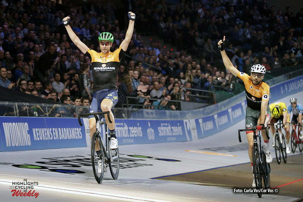 Rotterdam - Netherlands - wielrennen - cycling - cyclisme - radsport - baan - track - piste - Roger Kluge and Christian Grassman (left) pictured during the Zesdaagse 2017 in Ahoy - Rotterdam - foto Davy Rietbergen/Cor Vos ©2017