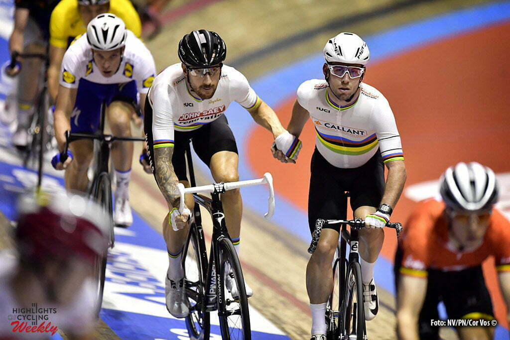 Gent - Belgium - wielrennen - cycling - radsport - cyclisme - Mark Cavendish (GBR) and Bradley Wiggins (GBR) pictured during the first day of the 76th Lotto Six Days Vlaanderen on November 15, 2016 at Het Kuipke velodrome in Gent, Belgium - photo NV/PN/Cor Vos © 2016
