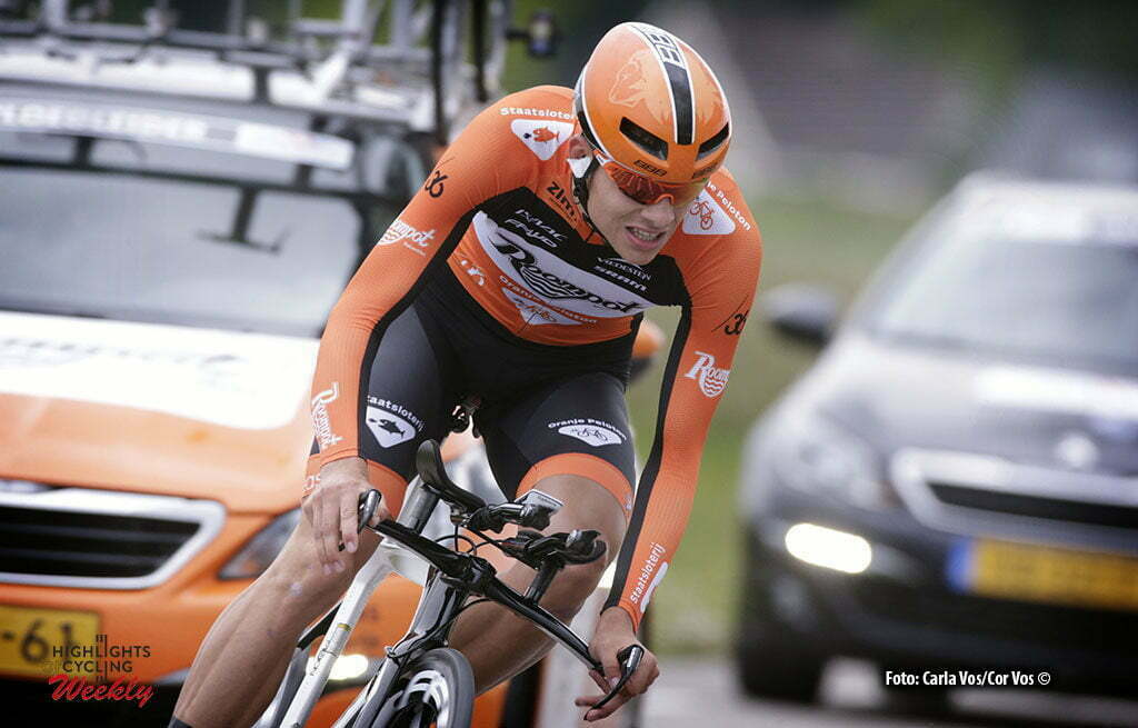 Goes - Netherlands - wielrennen - cycling - radsport - cyclisme - Sjoerd van Ginneken (Netherlands / Roompot - Oranje Peloton) pictured during the prologue (6,4 km) of the Ster ZLM Toer - GP Jan van Heeswijk 2016 in Goes, Netherlands - photo Carla Vos/Cor Vos © 2016