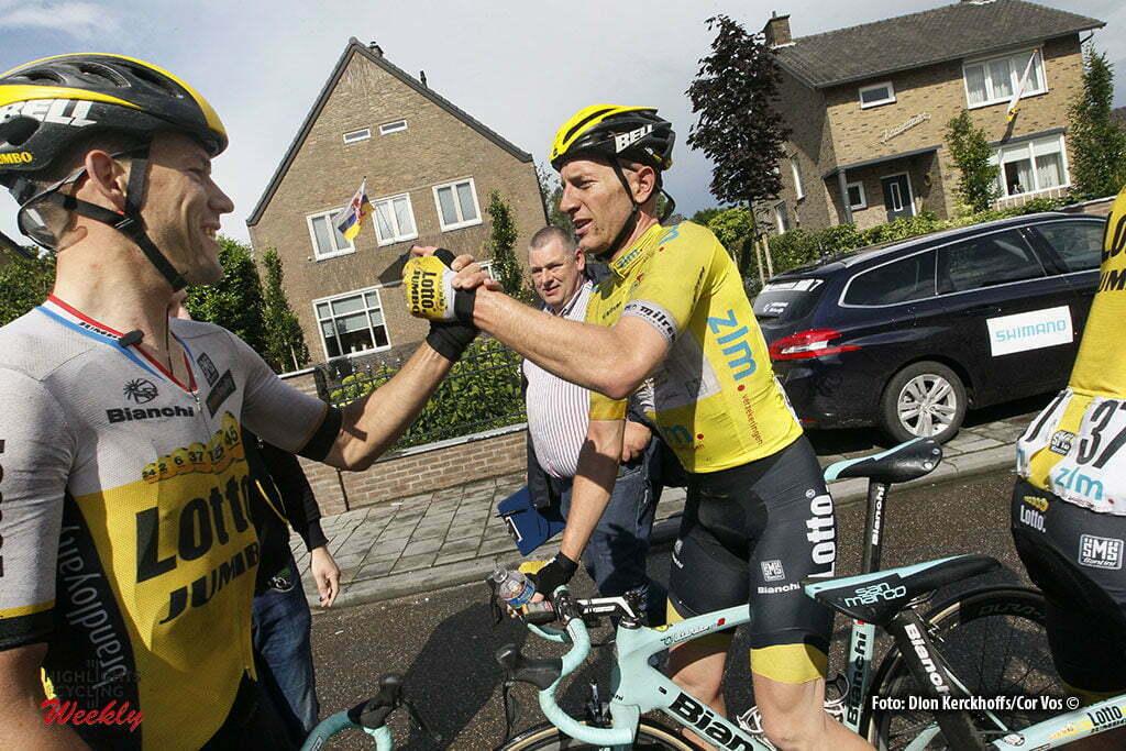 Buchten - Netherlands - wielrennen - cycling - radsport - cyclisme - Maarten Tjallingii (Netherlands / Team LottoNL - Jumbo) - Jos Van Emden (Netherlands / Team LottoNL - Jumbo) pictured during stage 3of the Ster ZLM Toer - GP Jan van Heeswijk 2016 in Buchten, Netherlands - photo Dion Kerckhoffs/Cor Vos © 2016