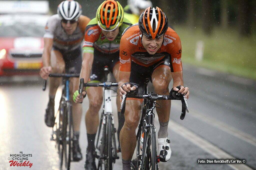 Buchten - Netherlands - wielrennen - cycling - radsport - cyclisme - Sjoerd van Ginneken (Netherlands / Roompot - Oranje Peloton) - Wout van Aert pictured during stage 3of the Ster ZLM Toer - GP Jan van Heeswijk 2016 in Buchten, Netherlands - photo Dion Kerckhoffs/Cor Vos © 2016