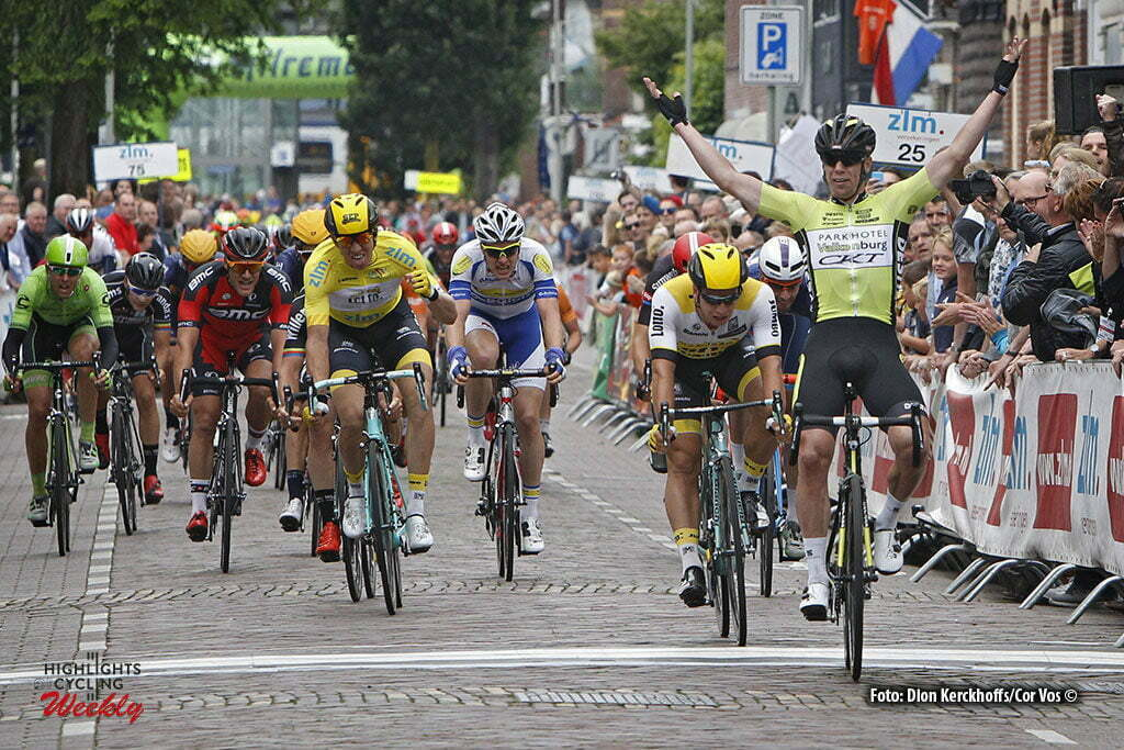 Boxtel - Netherlands - wielrennen - cycling - radsport - cyclisme - Sep Vanmarcke (Belgium / Team Lotto Nl - Jumbo) - Dylan Groenewegen (Netherlands / Team Lotto Nl - Jumbo) - Wim Stoeringa (Parkhotel Valkenburg) pictured during stage 5 of the Ster ZLM Toer - GP Jan van Heeswijk 2016 in Boxtel, Netherlands - photo Dion Kerckhoffs/Cor Vos © 2016