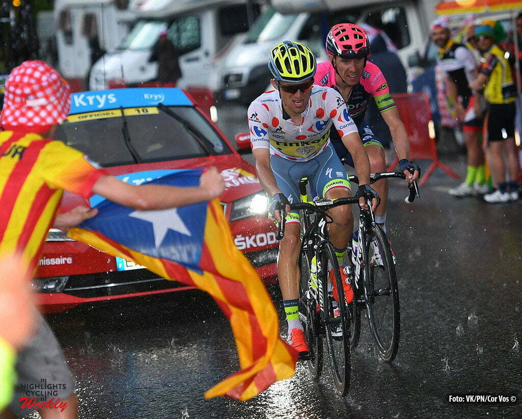 Andorre Arcalis - France - wielrennen - cycling - radsport - cyclisme - Rui Costa (POR-Lampre-Merida) - Rafal Majka (POL-Tinkoff) pictured during stage 9 of the 2016 Tour de France from Vielha Val d'Aran to Andorre Arcalis, 184.00 km - photo VK/PN/Cor Vos © 2016